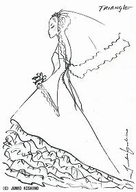 08年12月発表予定のドレスのイメージ