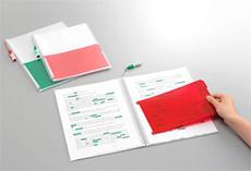 キングジム「チェック クリアーファイル」。暗記したい項目のあるプリントをかさばらずにまとめるのに便利