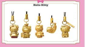 「GINZA TANAKA」金銀製「ご当地キティ」携帯ストラップ
