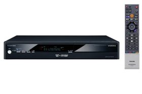 国内で唯一HD DVDレコーダーを発売する東芝「RD-A301」。実売10万円前後