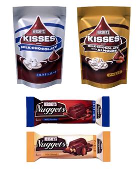 ロッテ「キスチョコ」「ナゲットチョコレート」4品