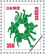 企画展「POST切手~郵便が変わり始めた。切手のデザインはどう変わる。」に展示される「オリジナル切手」