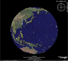 パソコン地球儀ソフトの「Google Earth」は日本でもファンが多い