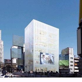 丸紅は大阪・心斎橋に都市型商業ビル計画を発表した(写真は外観予想図)