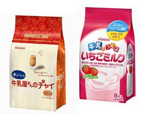和光堂 「牛乳屋さんのチャイ」「牛乳でつくるいちごミルク」