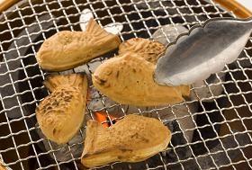 牛角のたい焼きは炙って食べる!