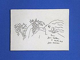 会場にはコクトーの親友が描いた「原画」も