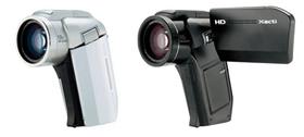 軽薄短小路線を行く三洋の「DMX-HD1000」。フルハイビジョン録画は4GBのSDHCで約43分可能。