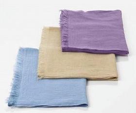 上からラベンダー、ナチュラルブラウン、マローブルーの3色展開