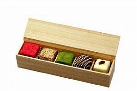 『神楽坂茶寮』の「和風チョコレート」。和服で食べたいです