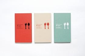 マークス社「ライフスタイルノートブックRecipes」。09年1月からは新シリーズの「Music」「Gardening」を追加(価格は1470円)