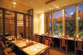 朝・夕食の会場となる1Fレストラン「土煌」