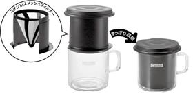 「ステンレスメッシュフィルター」がコーヒーの旨み成分を逃さない!