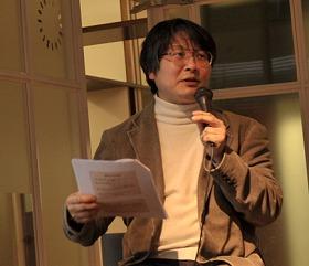 「輸入品より日本の水を」と語る上田氏
