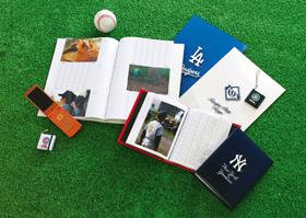 応援する日本人選手の写真も入る「MLBミニアルバム」ほか