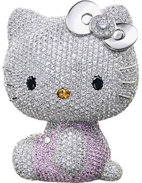 2,300個の宝石をまとったキティ