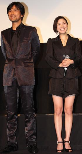 「GOEMON」に出演の江口洋介と広末涼子