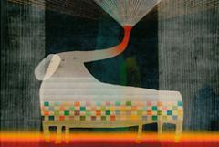 第1回日本新薬こども文学賞 絵画部門最優秀賞「夜の夢のゾウ」