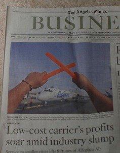 LA Times紙ビジネス欄1面に取り上げられていました