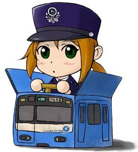 羽田空港行きの「KEIKYU BLUE SKY TRAIN」に乗り換えた「けいきゅう♪ドレミたん」