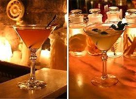 アポテクのカクテルは、お客さんの症状にあわせて効果のあるハーブを漬け込んだ酒をベースに使用