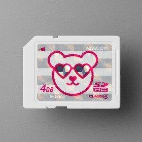 画像はクマをデザインしたSDHCカード(3980円)