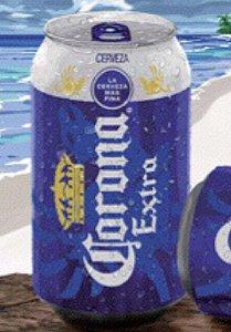 「コロナ・エキストラ缶」(店頭商品は缶上部のくぼみにライム果汁パックがぶら下がっている)