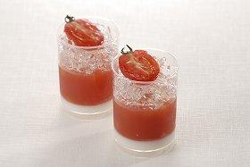 プチトマトがかわいい「トマトのジュレ」