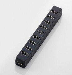 USBポートを10基備える