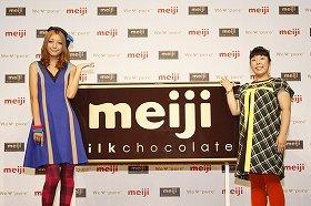 CM発表会に出席した木下優樹菜さん(左)と村上知子さん(右)