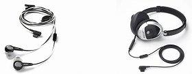 「ボーズ モバイル インイヤーヘッドセット」(左)「ボーズ モバイル オンイヤーヘッドセット」(右)