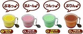 全4種でプリンの色や再生音声が異なる