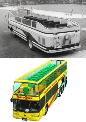 41年前のオープンバス(写真上)、「オー・ソラ・ミオ!」(写真下)