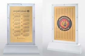 純金6kgを使ったゴージャスな「阪神タイガース 純金ビッグカレンダー2010」