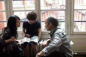 現在、フランスで上映中、諏訪敦彦とイポリット・ジラルドが共同監督した『ユキとニナ』も子どものいる夫婦の離婚を取り上げた作品 (C)Ad Vitam