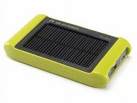 太陽光で、どこでも充電。持ち運びにも便利。
