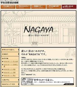 「NAGAYA」を紹介する共立メンテナンスのHP