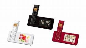 液晶に時計や写真などを表示できる