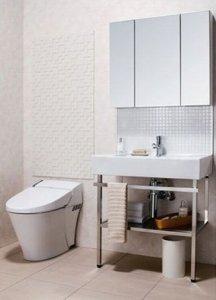 トイレ空間のデザインや洗面まわりの機能をアップ