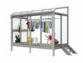 雨や花粉、ホコリ、虫から洗濯物を守る専用ルーム