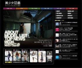 「美少女図鑑」のサイト画面