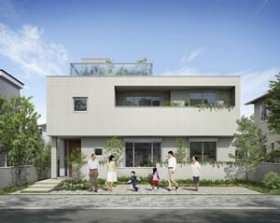 へーベルハウス新・二世帯住宅「i_co_i」のプロトタイプ外観