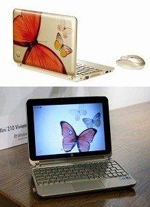 蝶が華やかさを演出する「HP Mini 210 Vivienne Tam Edition」