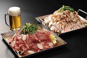 プルコギと飲み放題のセットは男性3300円~、女性3000円~、子ども1500円~