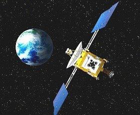 小惑星探査機「はやぶさ」(JAXA 提供)