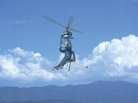 写真は世界一小さいヘリコプター