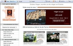 ビアジェ専門サイトには物件がフランス全国の物件が並ぶ