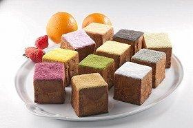 「キューブシュークリーム」は小田急限定のキャラメル味を含め全12種類の味が楽しめる
