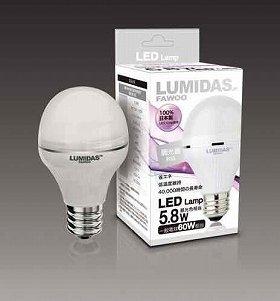价格便宜、光效豪华,同时可对应各种调光器(图为日光款)