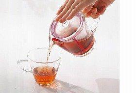 茶葉がゆっくり開いていくようすが見えるガラス製